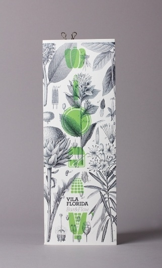 Vila Florida Restaurant Barcelona graphic design by Lo Siento Studio, Barcelona #pattern #print #lo #graphic #floral #siento #green