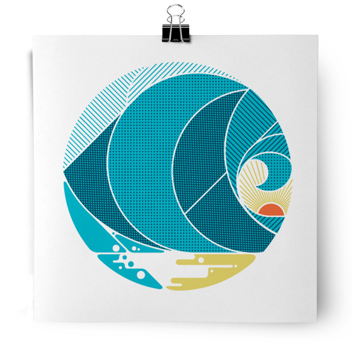 wave screen print by MATT LEHMAN #print #texture #wave