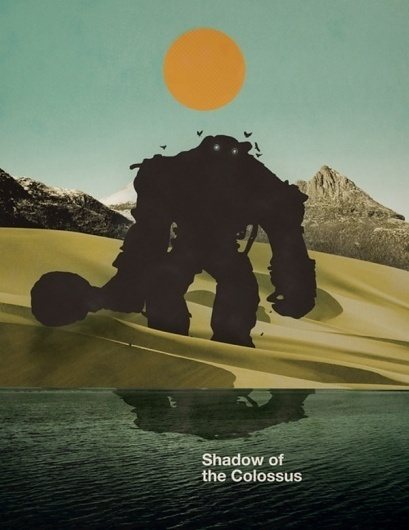 Shadow of the Colossus on yay!everyday #monsters #minimal #poster