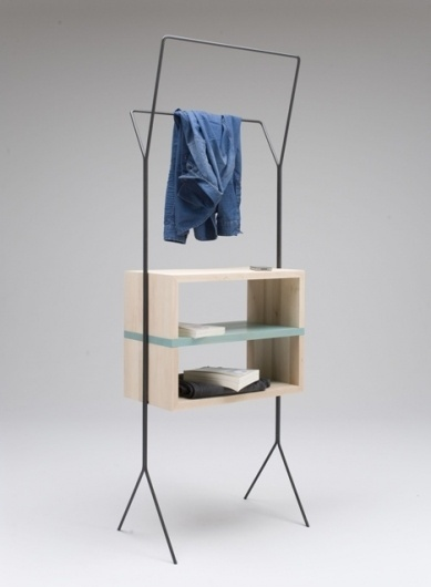 Dezeen » Blog Archive » Maisonnette by Simone Simonelli #steel #design #closet #wood #furniture #coathanger