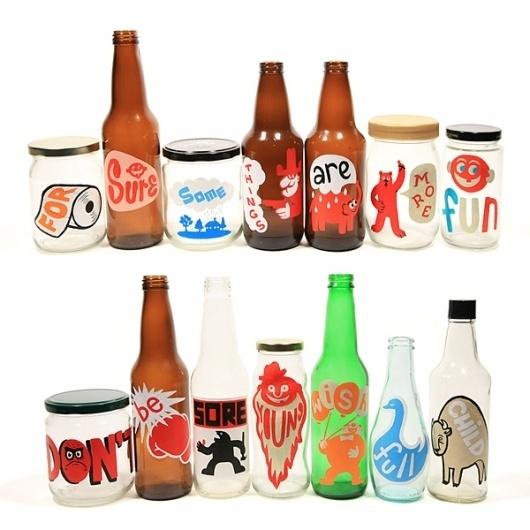 Visual : : chrisvonszombathy.com #chris #szombathy #illustration #bottles #von