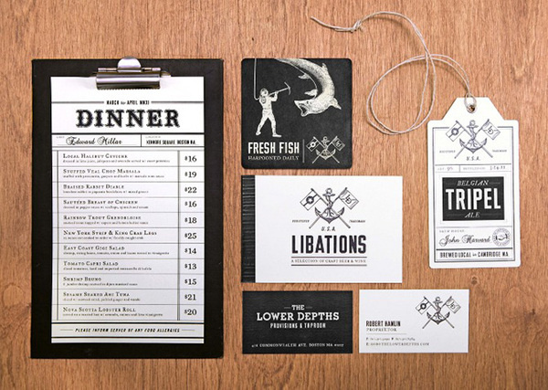 The Lower Depths #menu #identity #system #restaurant