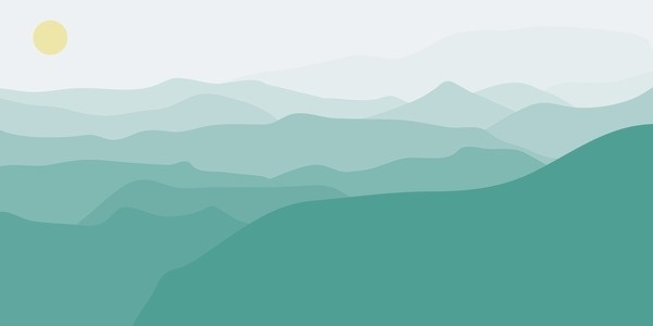 Road Up to the Sun #flat #vector #design #illustration #mountains