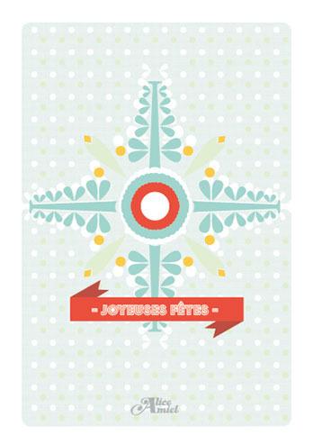 Christmas card made by Alice Amiel - 2012 #carte #flocon #card #christmas #snowflake #noel