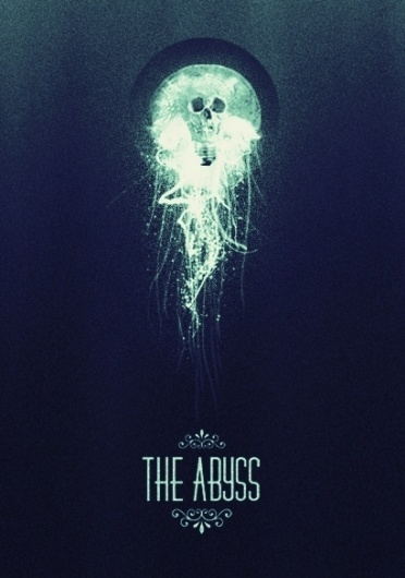 Heitor Kimura #design #sea #poster #type #skull #light