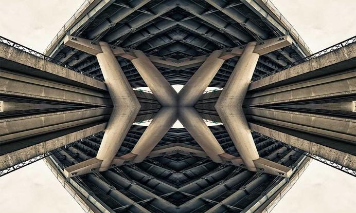 Roadschachs: Stunning Bridges of Portland by David McLaughlin