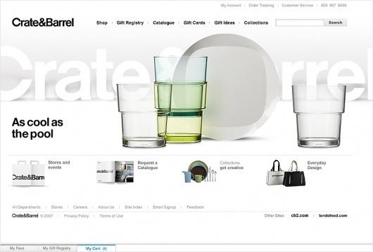 Sam Dallyn - Crate and Barrel - Ecommerce website #website