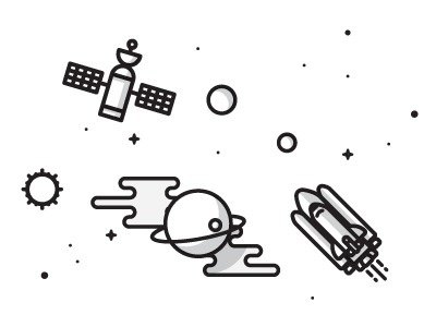 Space #icon #infographic #space