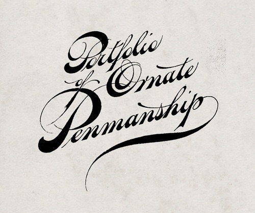 All sizes | vintage calligraphy | Flickr - Photo Sharing! #portfolio #lettering #hand #ornate