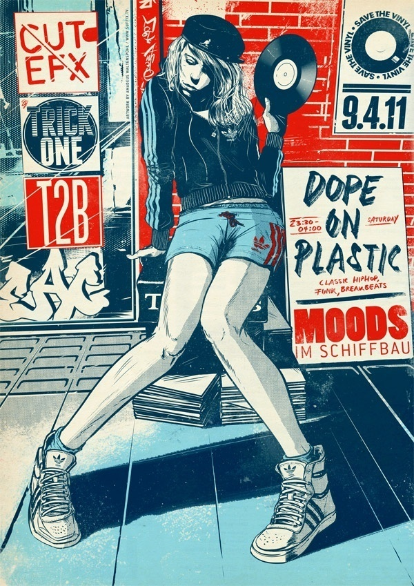 Dope On Plastic by Suffix #suffix #illustration #poster