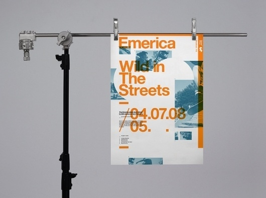 Six #print #orange #poster #typography