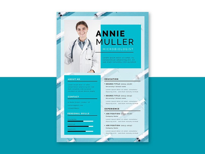 Free Medical Jobs Resume Template