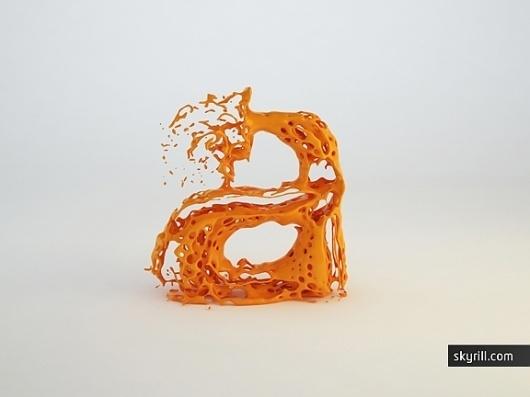 Type Fluid Experiment | skyrill.com #type #fluid