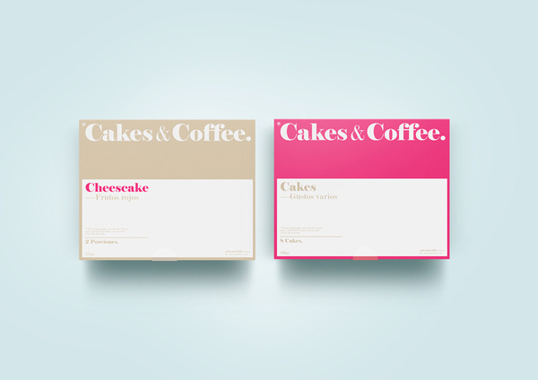 Cakes and Coffee® #packaging #argentina #design #color #minimalism #simple #buenos #pure #coffee #logo #pack #aires