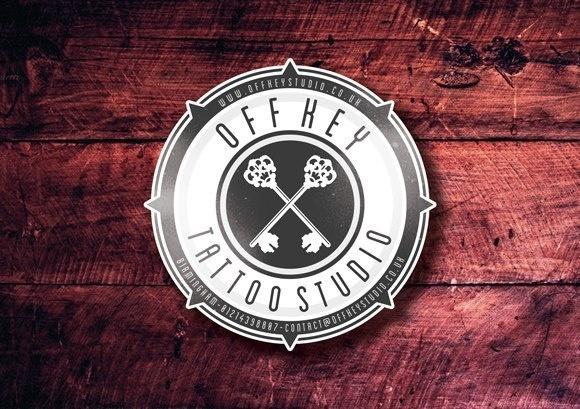 Off Key Tattoo #offkey #birmingham #branding #off #cross #crest #tattoo #key #studio #keys