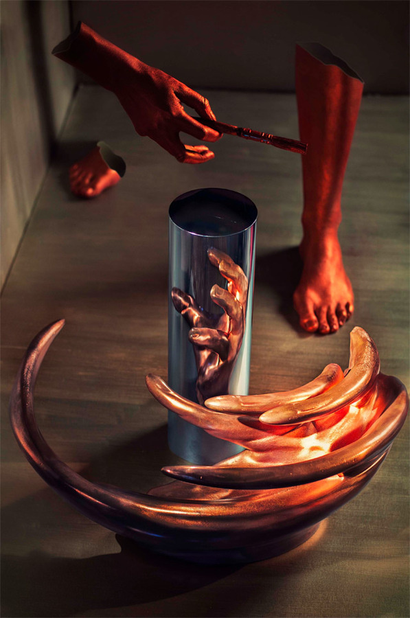 The Skewed, Anamorphic Sculptures and Engineered Illusions of Jonty Hurwitz #sculpture #anamorphic #art
