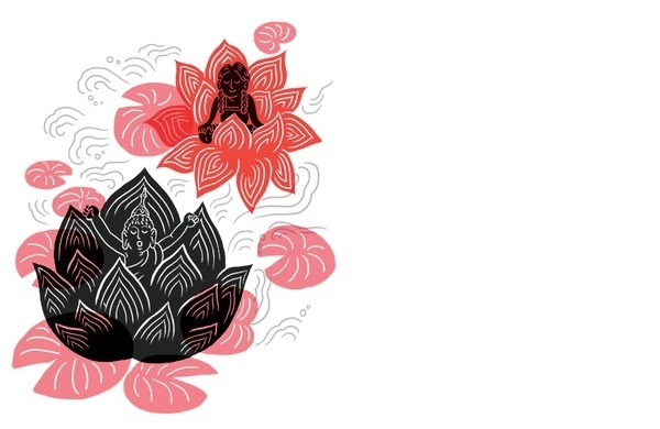 Shambhala Sun Magazine ♨ Tomi Um ♨ #flower #illustration