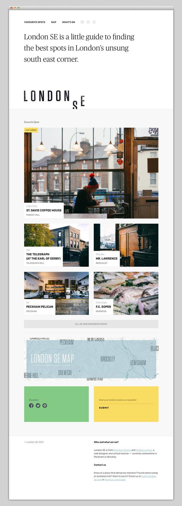 London SE #website #layout #design #web