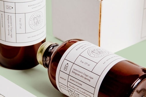 Design Work Life » RoAndCo: RoAndCordials Holiday Promotion #white #and #bottle #packaging #label #black #minimal #vintage #promo #package