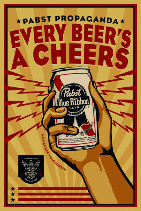 Pabst Blue Ribbon Poster Design By Rev Pop #design #graphic #advertising #poster #pabst
