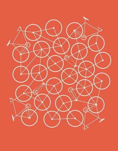Bike Mess by Brent Couchman #illustration #bike #orange #poster