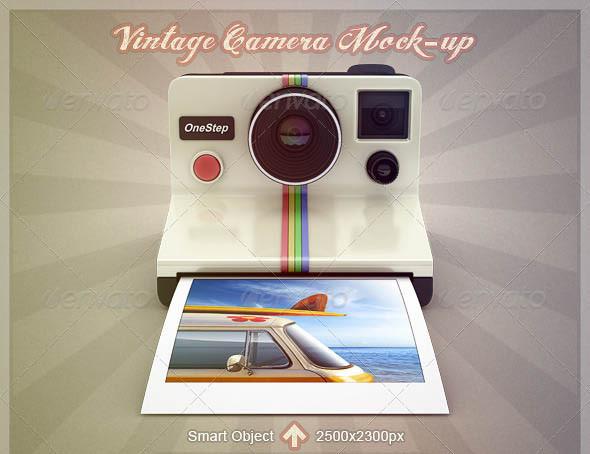 Camera Mockups PSD for Designer