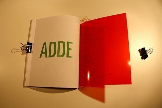 Gagarin Addendum on the Behance Network #binding #plastic #book