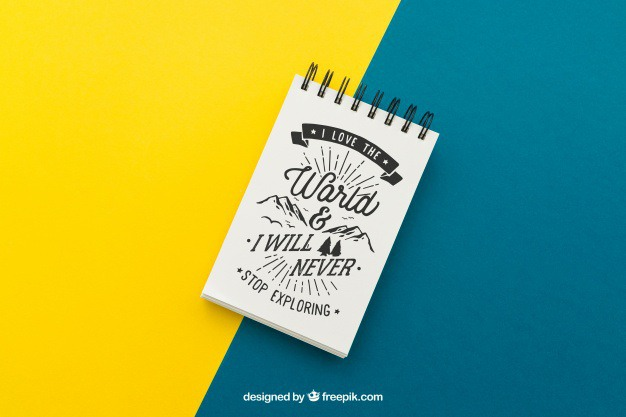 Notepad with quote on yellow and blue background Free Psd. See more inspiration related to Background, Mockup, Paper, Blue, Quote, Notebook, Yellow, Note, Mock up, Clean, Decorative, Notepad, Up, Typographic, Note paper, Composition and Mock on Freepik.