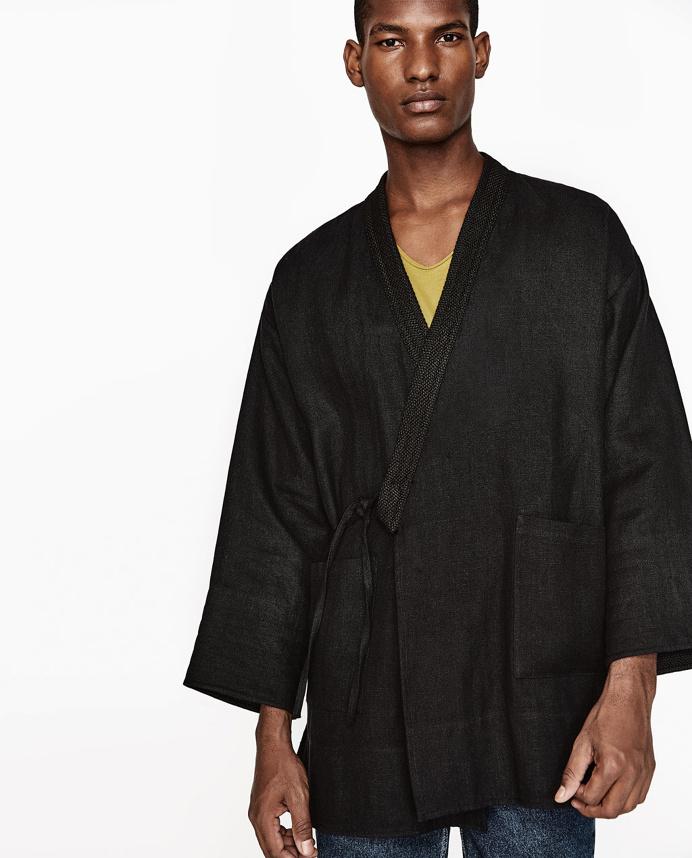 Image 2 of LINEN KIMONO from Zara