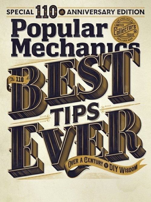 Typeverything.com Popular Mechanics Cover #lettering #typeverything #publication #magazine #typography