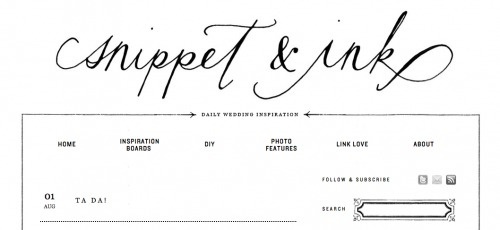 The New Snippet & Ink! | Oh So Beautiful Paper #wedding #print #cards #invites