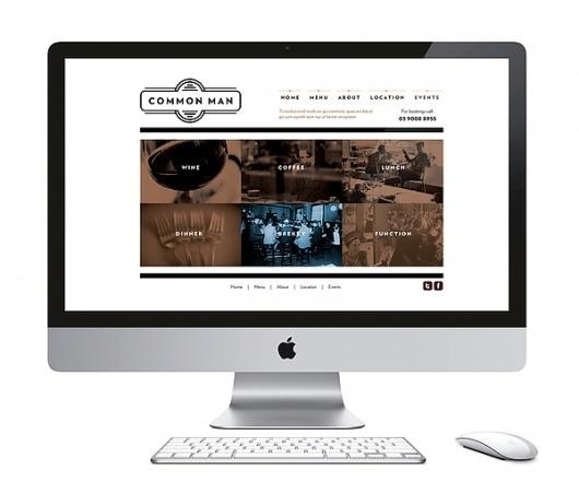 Common Man - Restaurant on the Behance Network #website #design