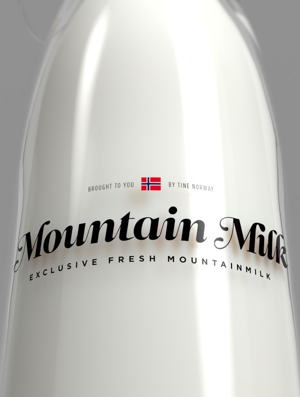 Tine Melk Mountain Milk on Behance #script #branding #packaging #design #graphic #logo #identity #type #typography