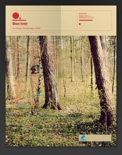 The Visual Mixtape on the Behance Network #poster #bon #iver #map