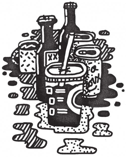 Design Envy · Mikey Burton's Experimental Food Illustration Blog, Barrel Body #mikey #illustration #burton #food