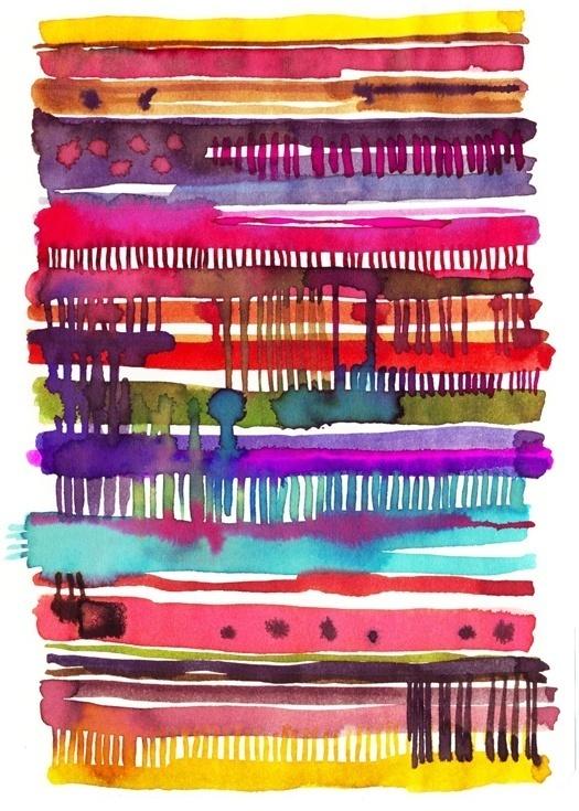 Watercolour #stripes #pattern #watercolour