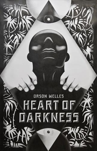 Heart of Darkness - La Boca #heart #white #darkness #of #graphid #design #book #black #boca #cover #la #and #type