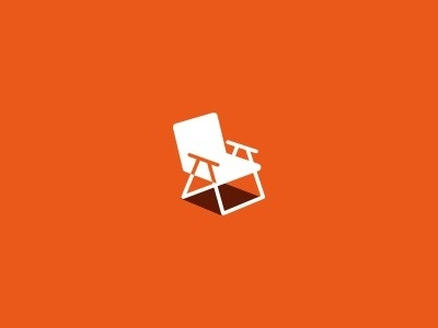 Chair final #lawn #isometric #depth #chair #perspective #logo #shadow