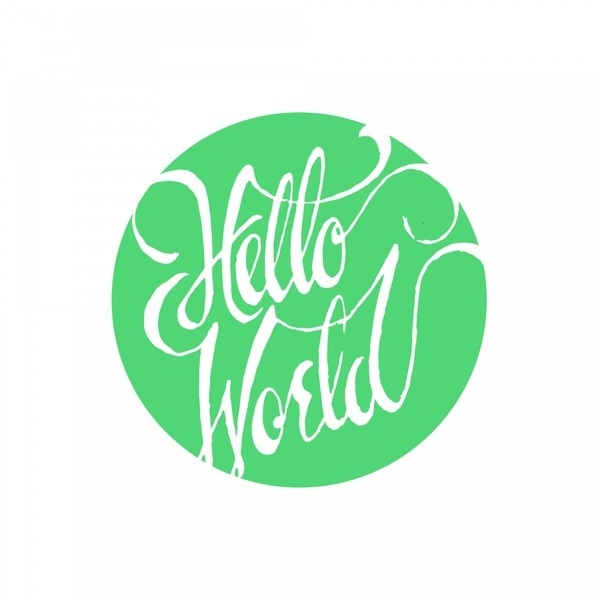 hello world script #lettering #typography
