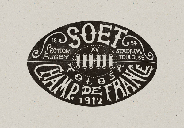 http://www.bmddesign.fr/stade_toulousain/section_rugby9.jpg #rugby #lettering #illustration #type #hand
