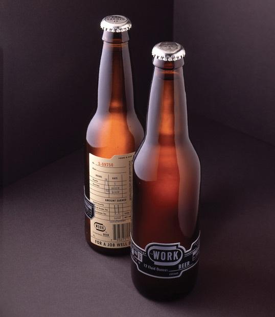 WORK Beer : Lovely Package® . Curating the very best packaging design. #packaging #beer