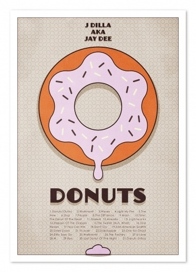 Listen to J Dilla #j #typography #design #graphic #doughnut #music #dilla