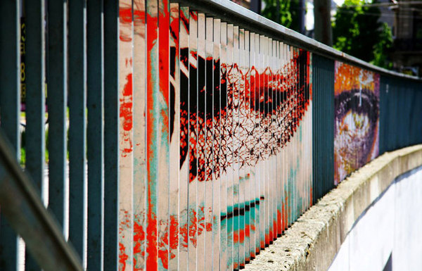 CJWHO ™ (Hidden Railing Street Art That Can Only Be Seen...) #hidden #design #germany #illustration #art #street