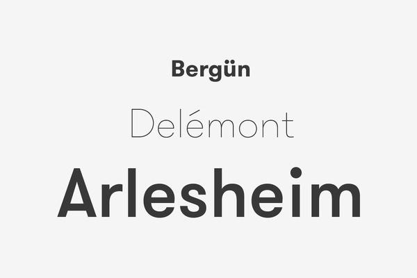 GT Walsheim Font Medium, Ultra Light, Medium #font #typography