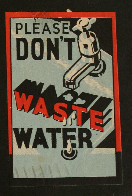 photo #conserve #water #waste #vintage #poster