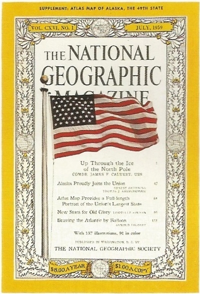 1959.jpg (400×586) #1900 #1959 #geographic #cover #national #50s #magazine