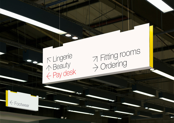 GTF — M&S Wayfinding #graphic design #wayfinding #signage #gtf