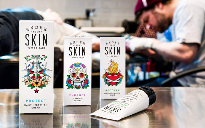 Packaging under you skin —Robot food #packaging #tatto #care #illustration #identity