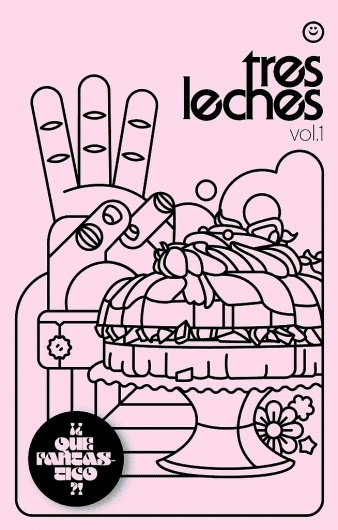 All sizes | tres leches vol.1 - cover | Flickr - Photo Sharing! #zines #zine #design #leches #cover #pettis #illustration #jeremy #tres #typography