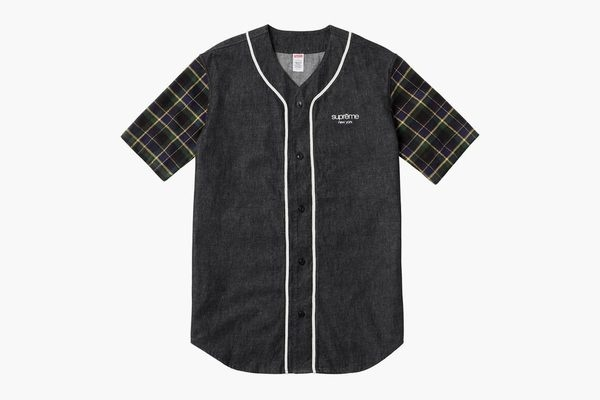 supreme denim flannel baseball shirt 01 #baseball #denim #menswear #supreme